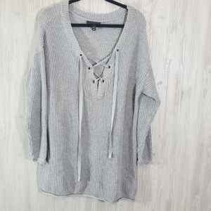 Lane Bryant Lace Up Front V Neck Sweater 18/20